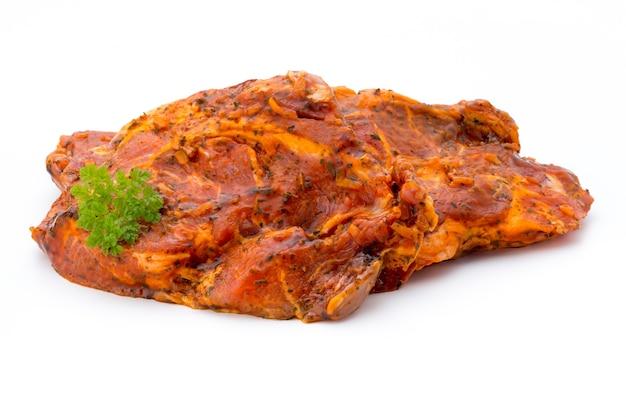 고립 된 절인 돼지 고기