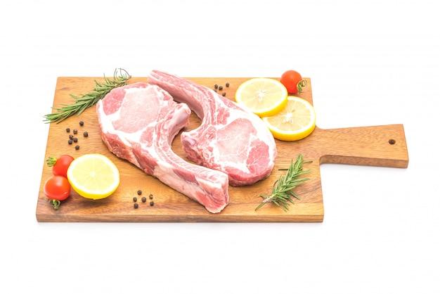Pork chop raw