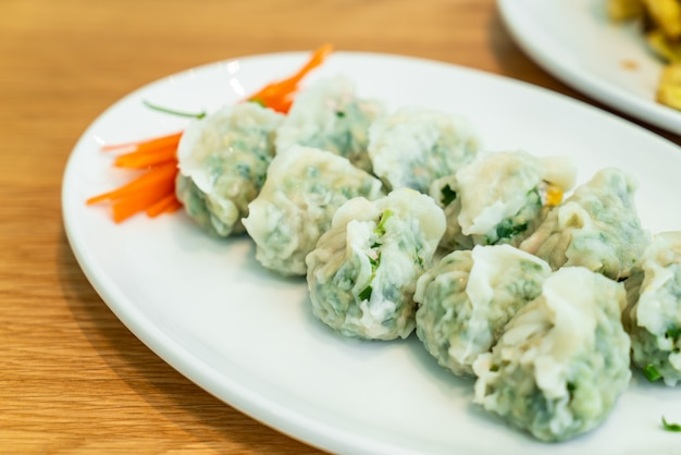 Pork dumpling with vegetable in chinese style