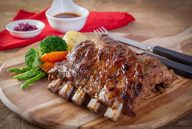Pork  ribs grill