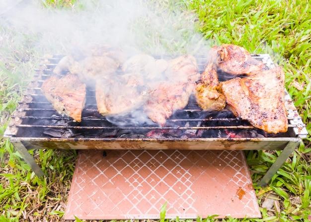 Pork shoulder grilled.
