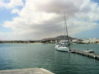 Port in fuerteventura in the canary isla