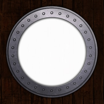 Port hole with white space