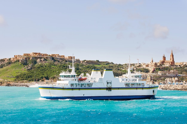 Port of mgarr on the small island of gozo.