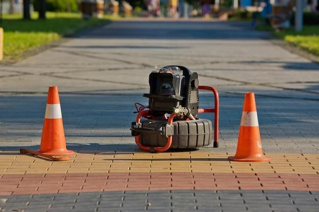 配管検査などの配管工事用ポータブルカメラ