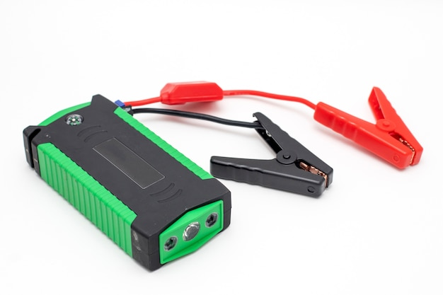 Portable car jump starter isolated emergency charger booster