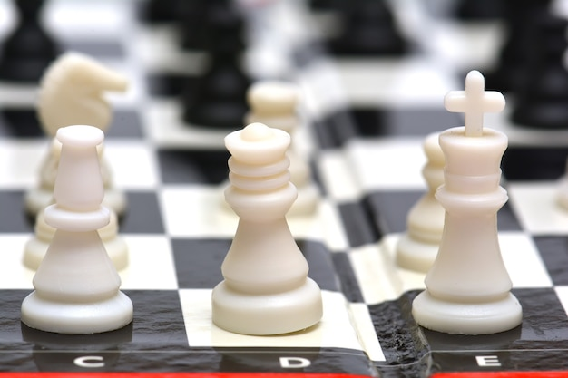 Portable chess board and figures