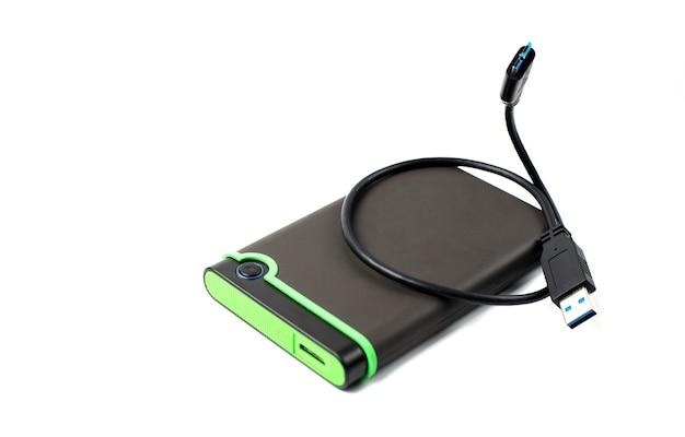 Usb 케이블이 분리 된 휴대용 외장 하드 디스크 드라이브