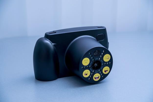 Portable refractor. device for children eye examination