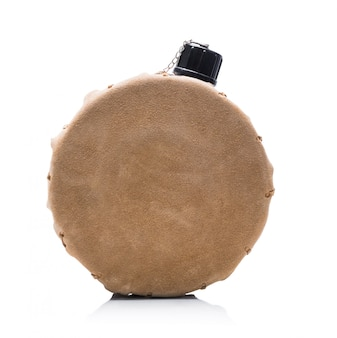 Portable round alcohol hip flask