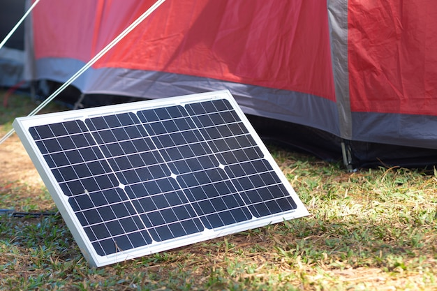 Portable solar panel for outdoors camping