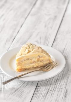 Portion of egyptian cake