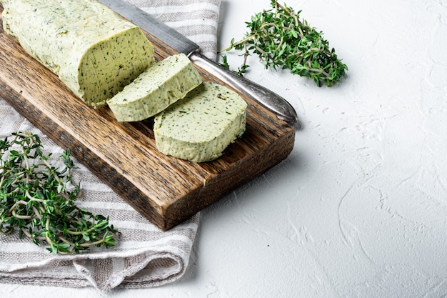 Portion of herb butter with chives