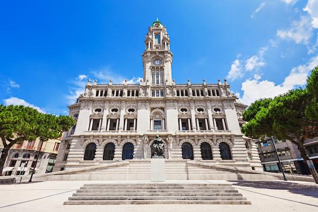 Porto city hall on liberdade square, porto