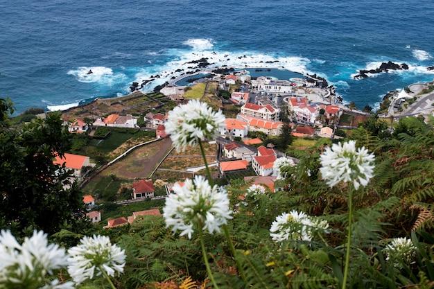 Porto moniz volcanic coast
