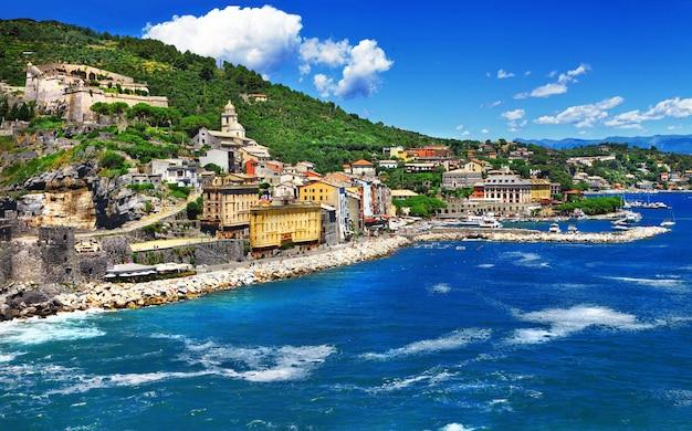 Портовенере - красивый город на лигурийском побережье италии.