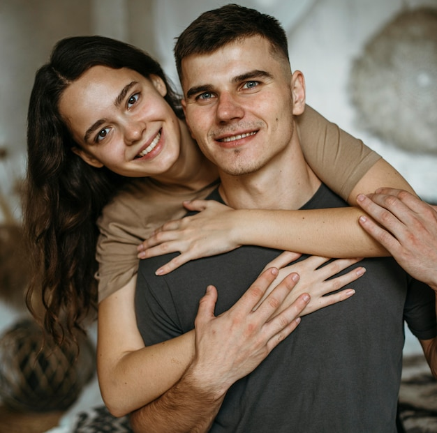 Portrait of adorable couple in love