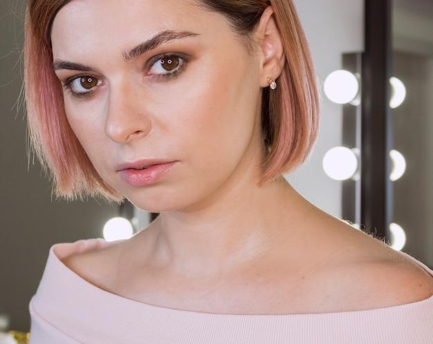 Portrait of adorable elegant woman