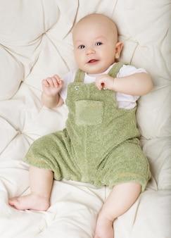 Portrait of adorable happy baby