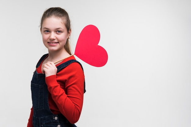 Portrait of adorable young girl posing