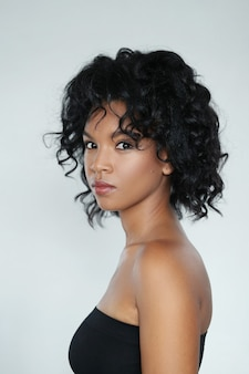 Portrait of an african american beautiful young woman