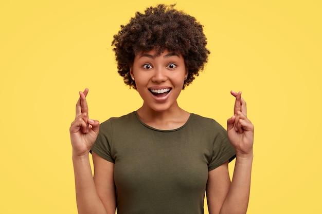 Portrait of african american woman posing