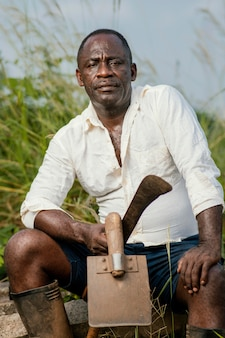 Ritratto africano uomo anziano