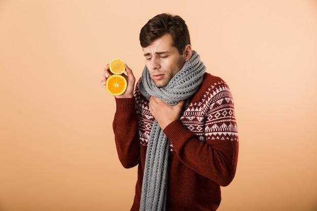 セーターを着た病人の肖像画
