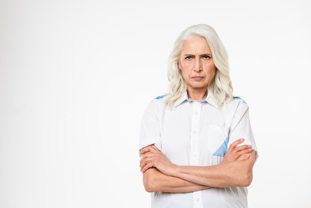 Portrait of an angry mature woman