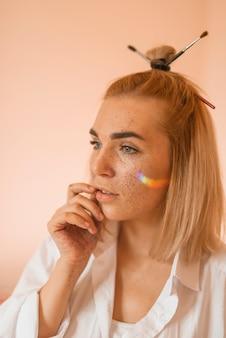 Portrait of artistic girl