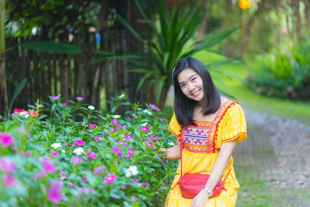 Portrait of asia girl in thailand