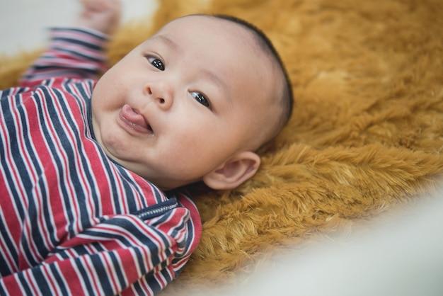 Portrait of a asian boy smiling