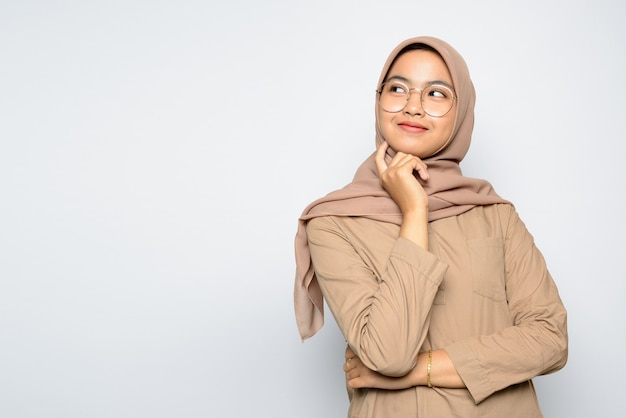 Portrait asian girl wearing hijab
