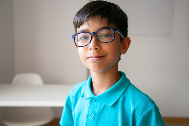 Portrait of asian little boy in eyeglasses