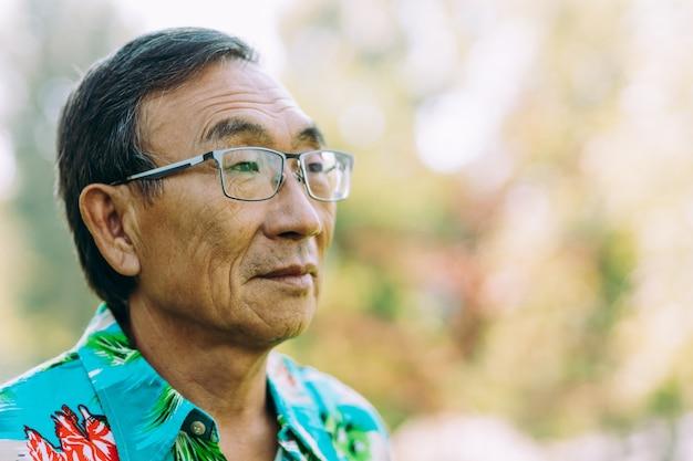 Portrait of asian senior man