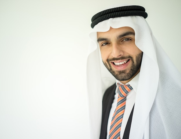 Portrait of attractive arab man