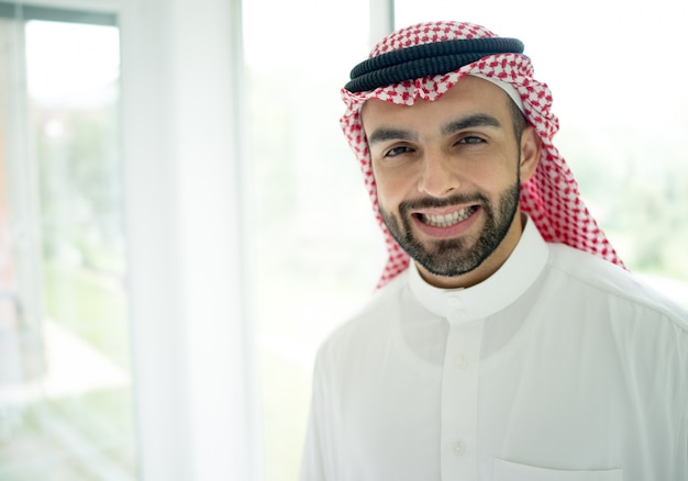 Portrait of attractive arab man