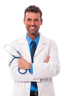 Portrait of attractive male doctor