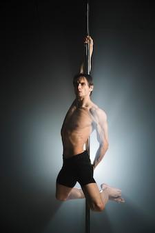 Portrait of attractive male model posing