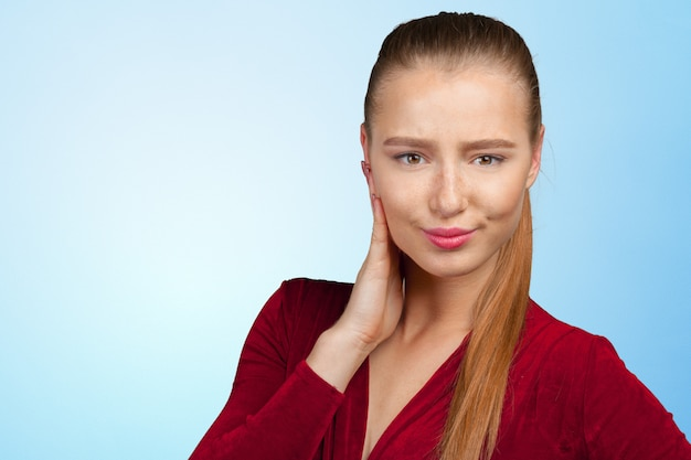 Portrait of an attractive young woman thinking deeply