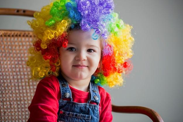 Portrait of baby clown