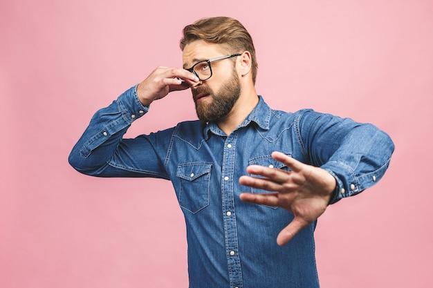 Portrait bearded man