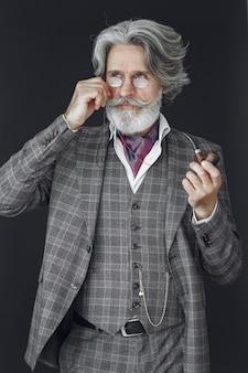 Portrait of bearded redhead english male.