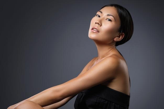 Portrait of beautiful asian model