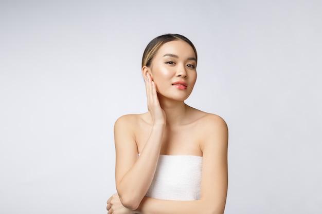 Portrait of beautiful asian woman makeup of cosmetic