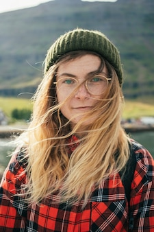 Portrait of beautiful authentic scandinavian woman