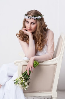 Portrait of beautiful bride.