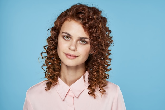 Portrait of a beautiful curly woman