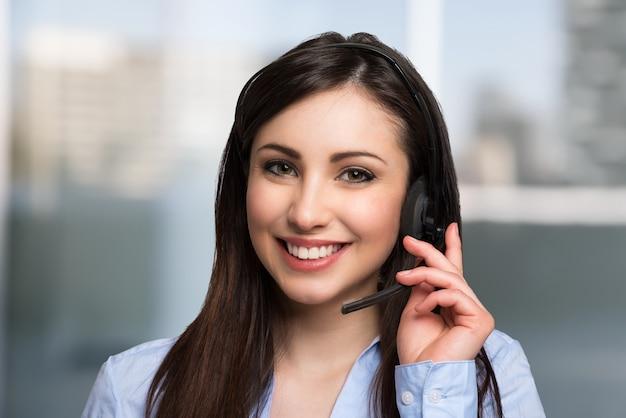 Portrait of a beautiful customer representative