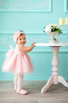 Portrait of a beautiful little baby.